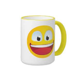 Excited Smile Ringer Mug