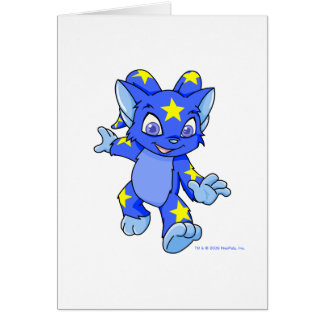 Excited Starry Acara Greeting Card