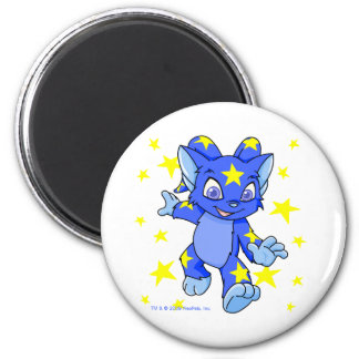 Excited Starry Acara with star burst 2 Inch Round Magnet