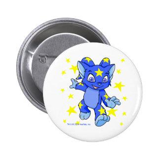 Excited Starry Acara with star burst 2 Inch Round Button