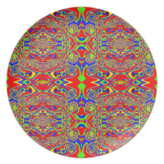 Excitement in Red Melamine Plate