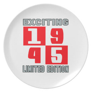 Exciting 1945 limited edition dinner plates