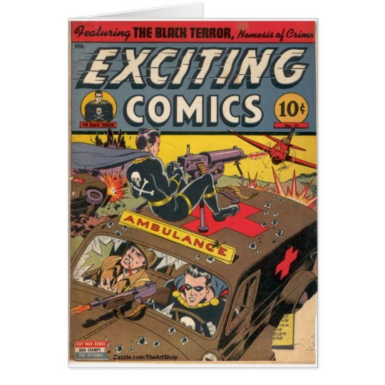 Exciting Comics Card