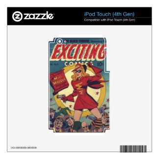 Exciting Comics Decal For iPod Touch 4G