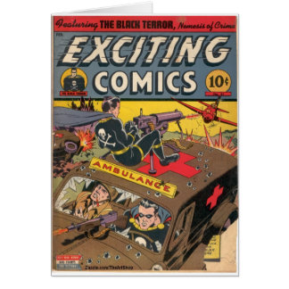 Exciting Comics Greeting Card
