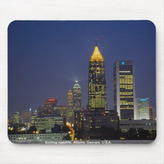 Exciting nightlife, Atlanta, Georgia, U.S.A. Mouse Pad