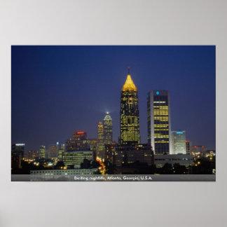 Exciting nightlife, Atlanta, Georgia, U.S.A. Poster