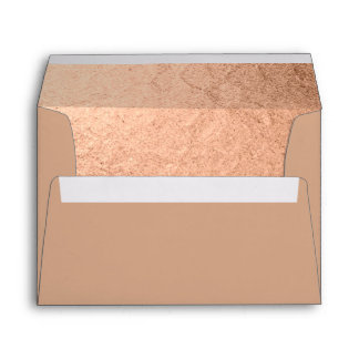 Exciting Rose Gold Foil-effect Dusty Rose Lined Envelope