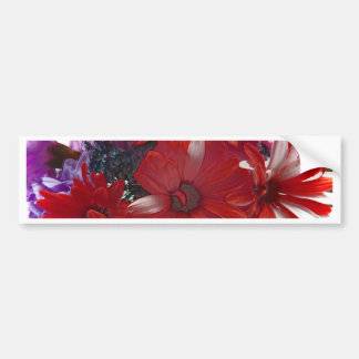 Exciting Spring Bouquet of Flowers Bumper Sticker