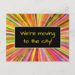 "[ Thumbnail: Exciting ""We'Re Moving to The City!"" Postcard ]"