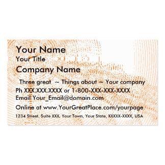 Exclaim - salmon burst - business card template