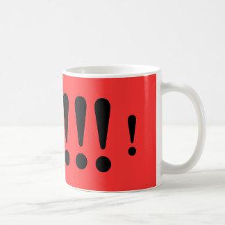 Exclaim yourself!!! coffee mug
