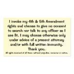 Exclamación de las tarjetas de los derechos consti plantillas de tarjeta de negocio