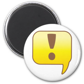 Exclamation ! 2 inch round magnet