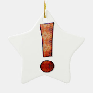 Exclamation mark Double-Sided star ceramic christmas ornament
