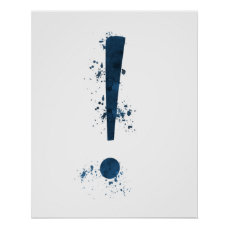 Exclamation mark poster