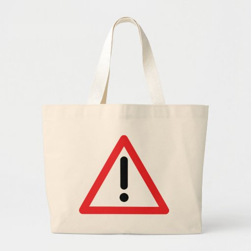 exclamation mark traffic icon bag