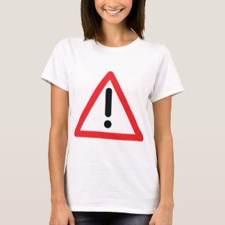 exclamation mark traffic icon T-Shirt