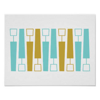 Exclamation Mid Century Modern Poster