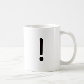 Exclamation Point! Black Blue Red Classic White Coffee Mug