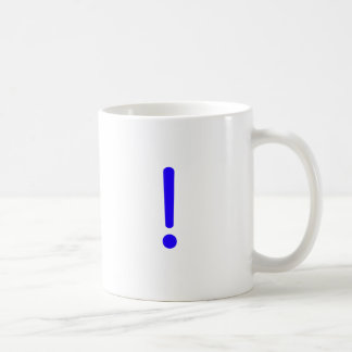 Exclamation Point! Black Blue Red Coffee Mug