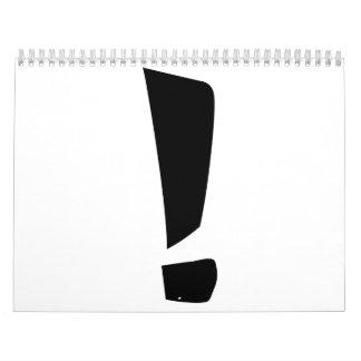 Exclamation point calendar