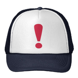 Exclamation point mesh hats