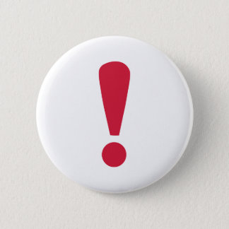 Exclamation point pinback button