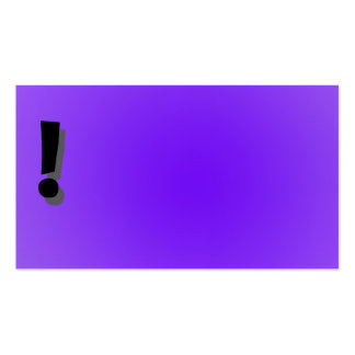 Exclamation point purple business card