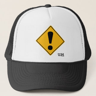 Exclamation point road sign! trucker hat