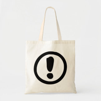 Exclamation Point Sign Bag