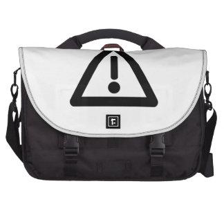 Exclamation Point Sign Laptop Messenger Bag
