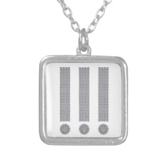 Exclamation Point Silver Plated Necklace