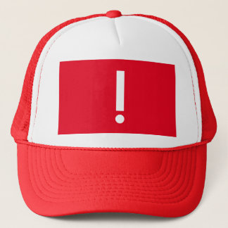 Exclamation point trucker hat