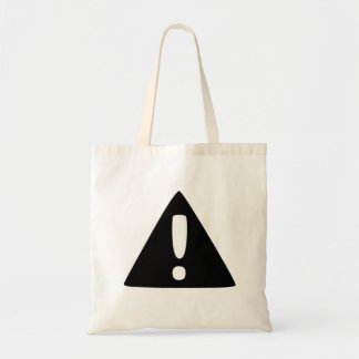 Exclamation Point Warning Sign Canvas Bags