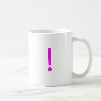 Exclamation Point! Yellow Green Pink Coffee Mug