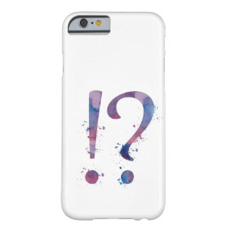 Exclamation / question mark barely there iPhone 6 case