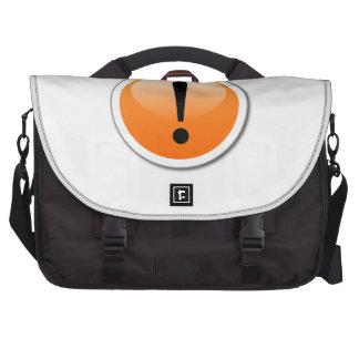 Exclamation Sign Laptop Commuter Bag