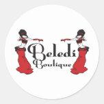 Exclusivas del boutique de Beledi Pegatina Redonda