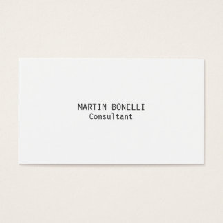 Exclusive Attractive Plain White Business Card