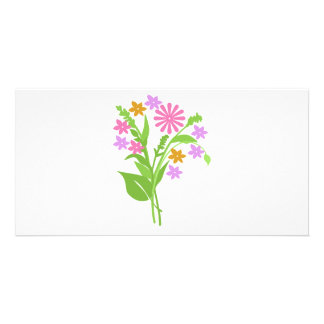 Exclusive Bouquet of Flowers Photo Card Template
