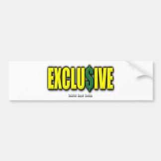 Exclusive Car Bumper Sticker