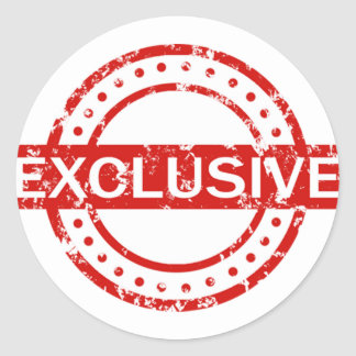 Exclusive Classic Round Sticker, Glossy Classic Round Sticker