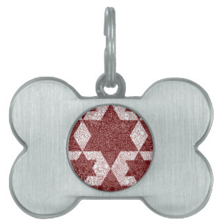 Exclusive design of Star of David made in Israel Pet ID Tag