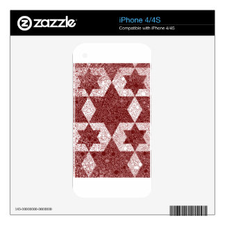 Exclusive design of Star of David made in Israel Skins For The iPhone 4