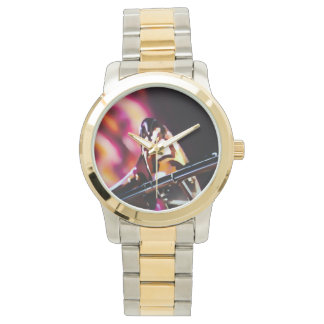 Exclusive designers clock for music lover wristwatch