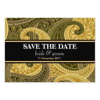 Exclusive Green Batik Invitation