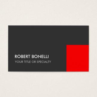 Exclusive Grey Red Unique Elegant Standard Business Card