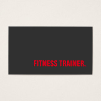 Exclusive Grey Red Unique Special Fitness Trainer Business Card