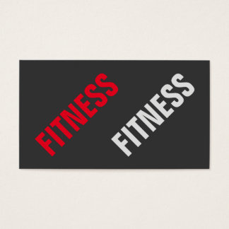 Exclusive Grey Red Unique Special Personal Trainer Business Card